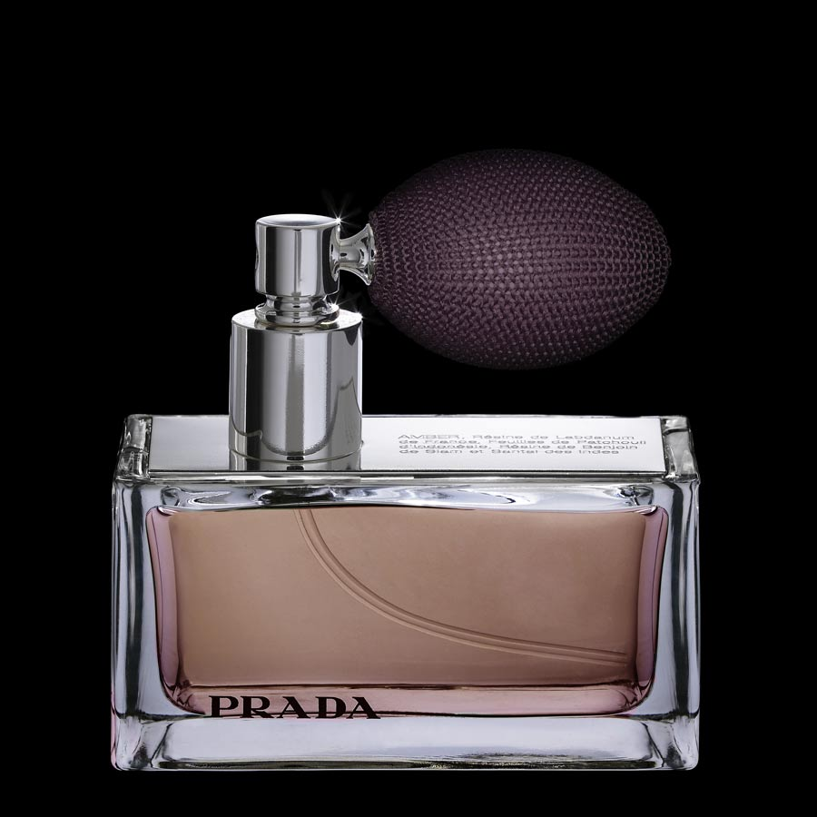 PRADA PERFUME BOTTLE WITH ATOMIZER