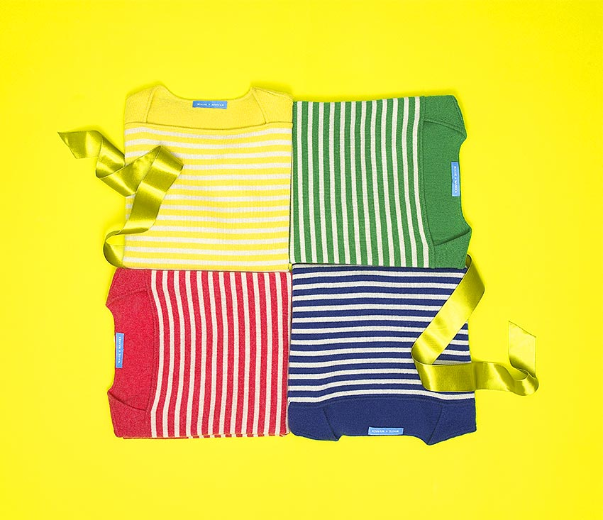 WHITE AND WARREN STRIPED SWEATERS