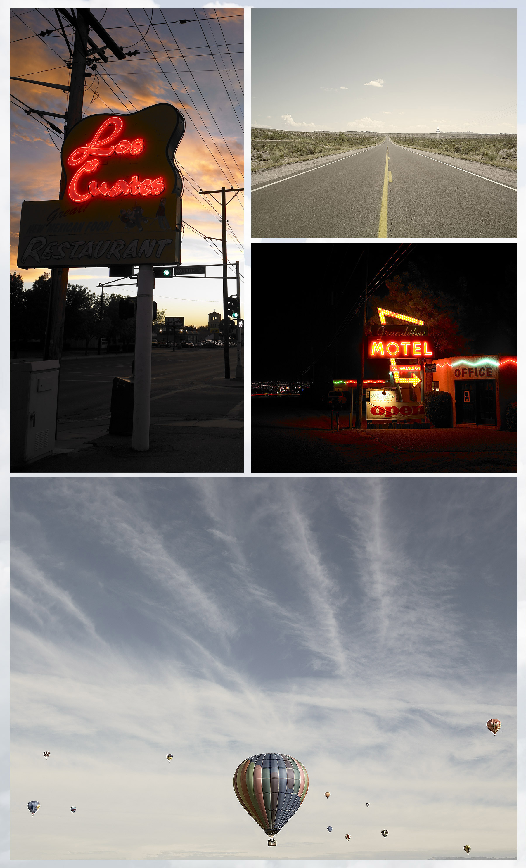 NEON SIGNS, DESERTED HIGHWAYS, ALBUQUERQUE BALLOON FESTIVAL, RAINER BEHRENS, DENISE BEHRENS, DENISE BEHRENS PHOTOGRAPHY, THE BEHRENS NYC
