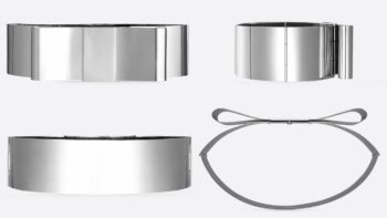 YVES SAINT LAURENT CHROME BELT
