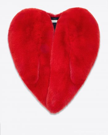 YSL RED HEART CAPE